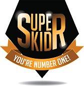 super kid gold type icon