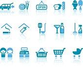 Super Market Icons | Simple Blue Series