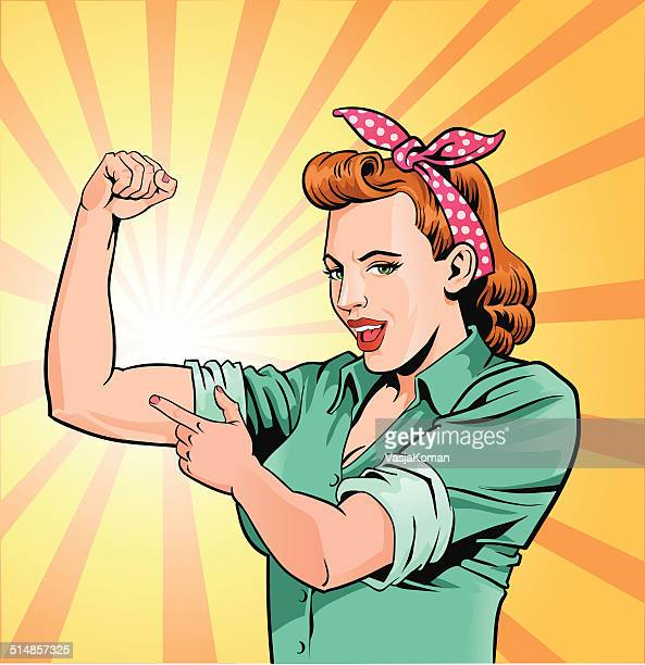 super mom - mother flexing muscles - only women stock illustrations, clip art, cartoons, & icons