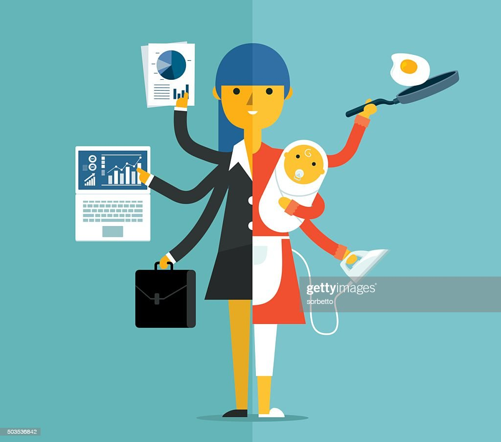 Super Mother : Stock Illustration