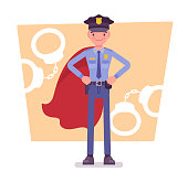 Super policeman at duty