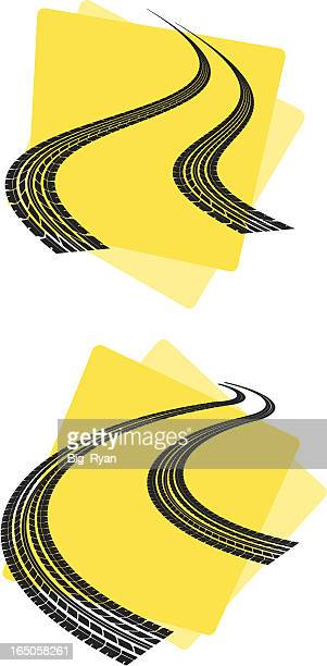 super race tracks - tire marks stock illustrations, clip art, cartoons, & icons