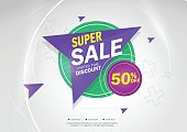 Super Sale and special offer. 50% off