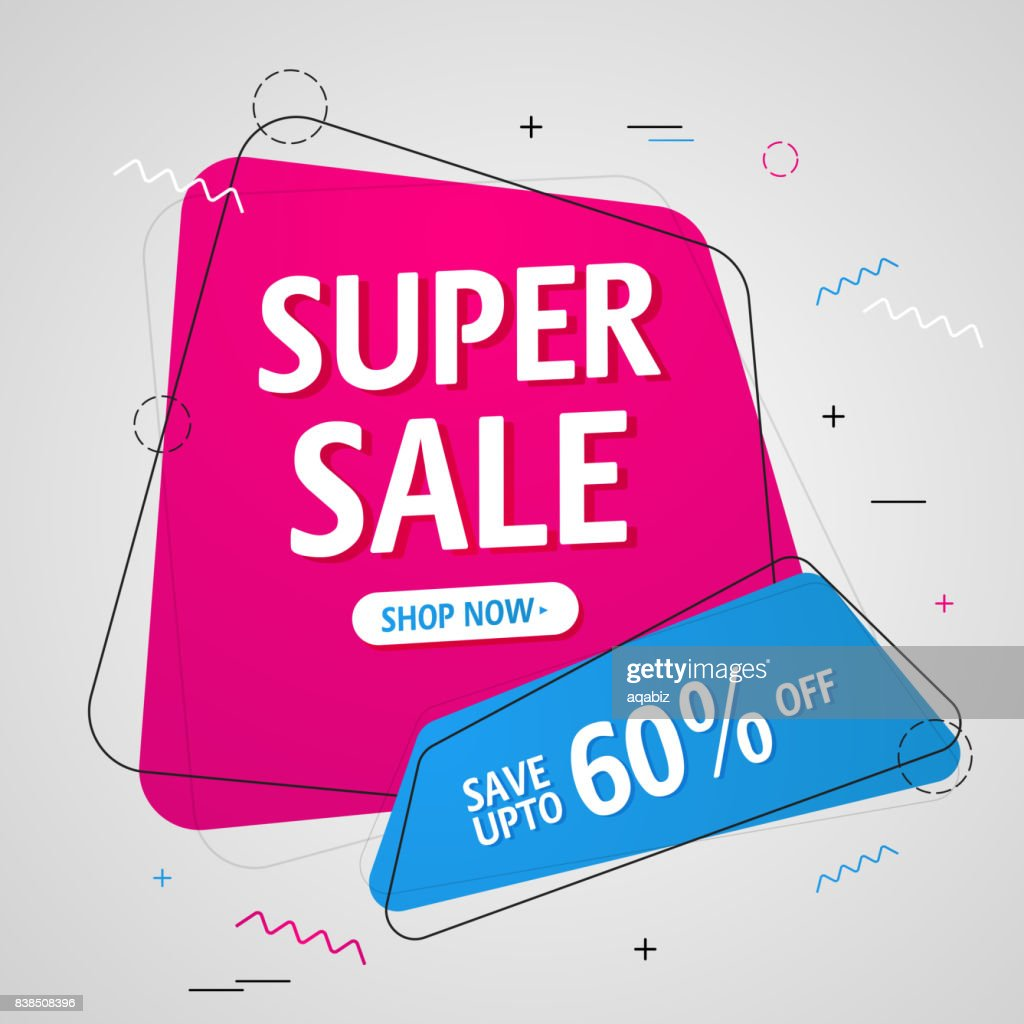 Super Sale Banner or Sale Poster design.