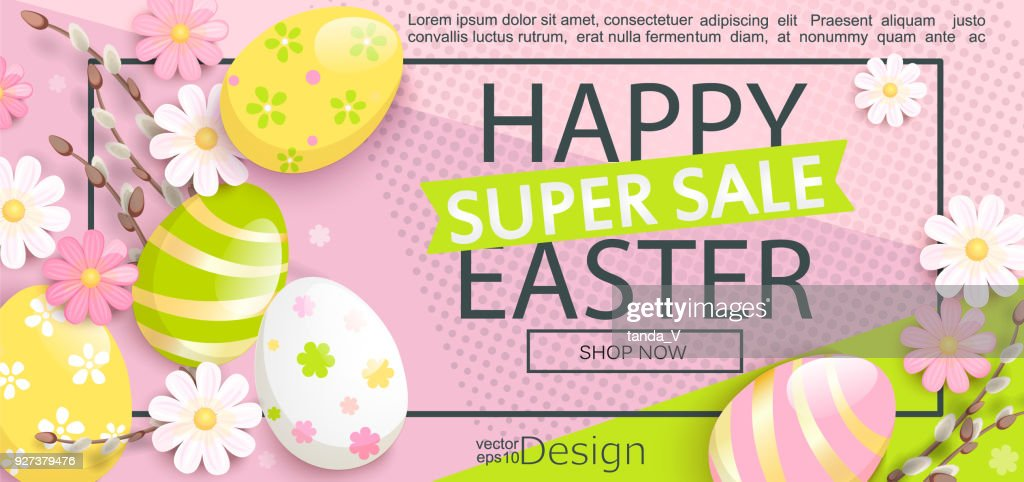 Super Sale flyer for Happy Easter.