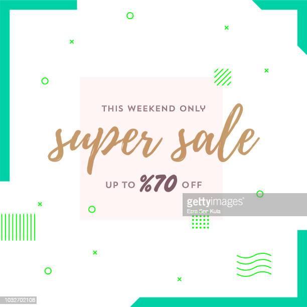 Super Sale Retro Web Banner for Social Media