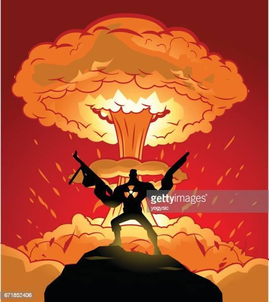 Super soldado y explosión Nuclear