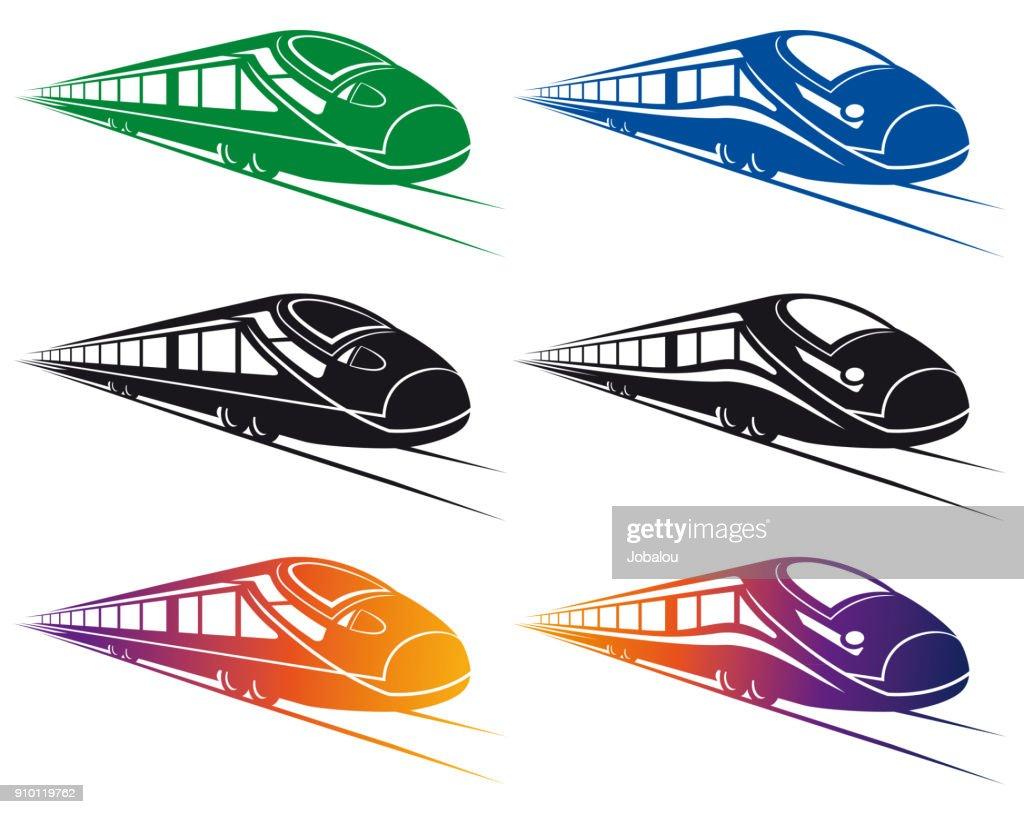 Super Streamlined Train Clip Art : stock illustration