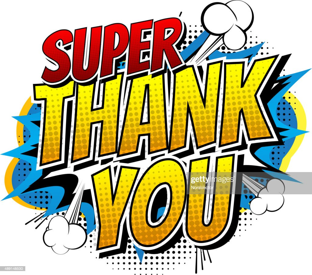 Super Thank You - Comic book style word.