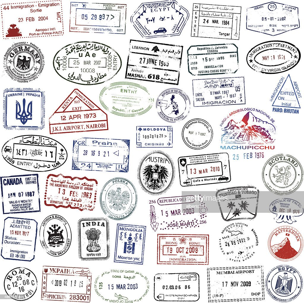 Super Travel Passport Collection : stock illustration
