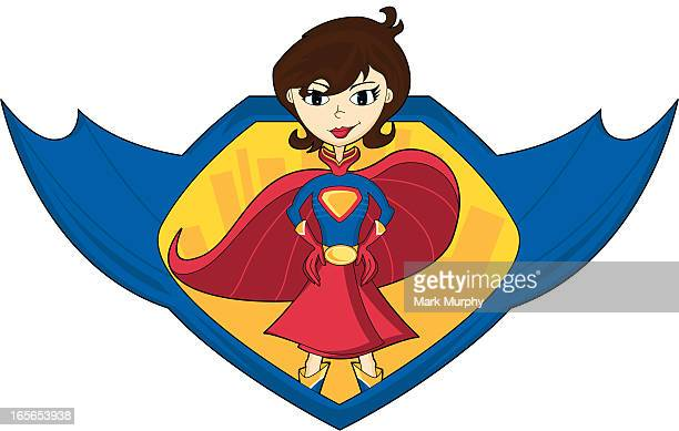 Super Woman Hero Graphic
