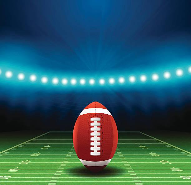 Superbowl Football Field Background Wall Art