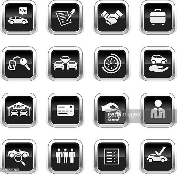 Supergloss Black Icons - Car Rental