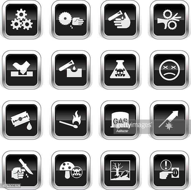Supergloss Black Icons - Caution