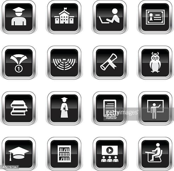 Supergloss Black Icons - College