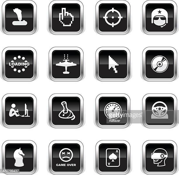 Supergloss Black Icons - Computer Gaming