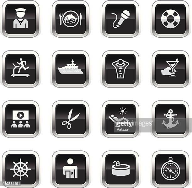 Supergloss Black Icons - Cruise Ship