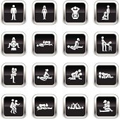 Supergloss Black Icons -  Erotic Positions