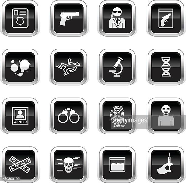Supergloss Black Icons - FBI & Forensics