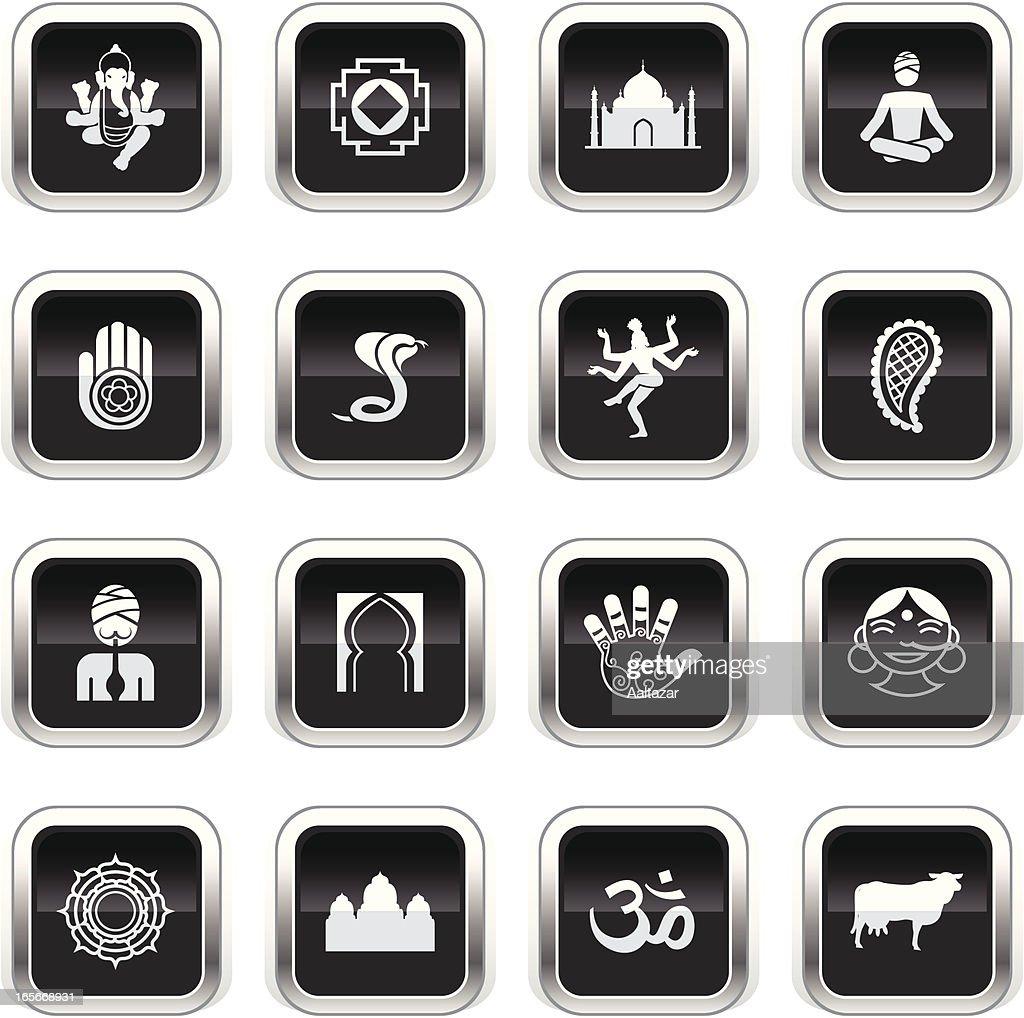 Supergloss Black Icons - India