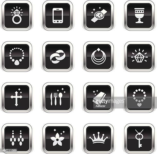 Supergloss Black Icons - Jewellery