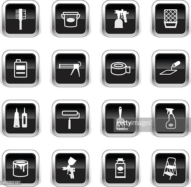 Supergloss Black Icons - Painting Tools
