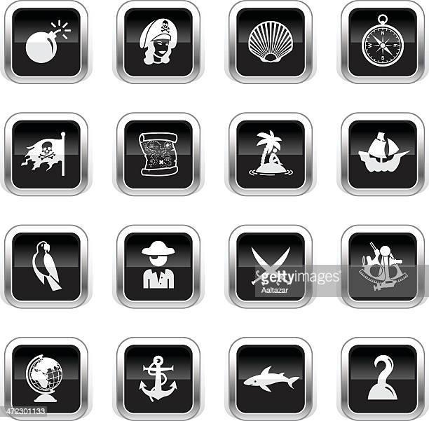 Supergloss Black Icons - Pirates