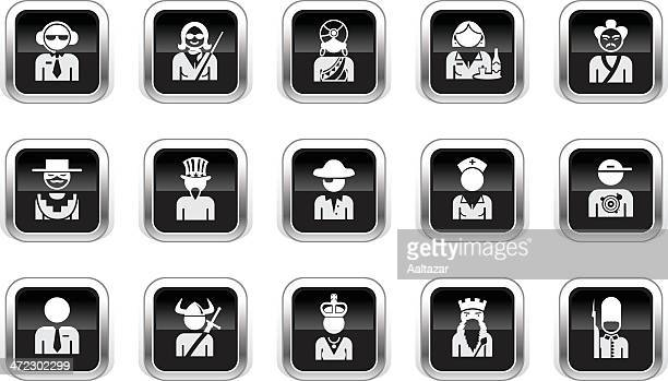 Supergloss Black Icons - Professions