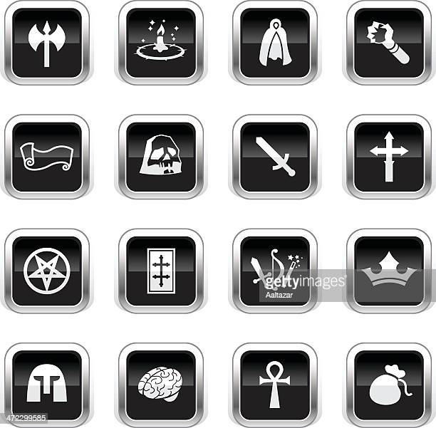 Supergloss Black Icons - Role Playing Games