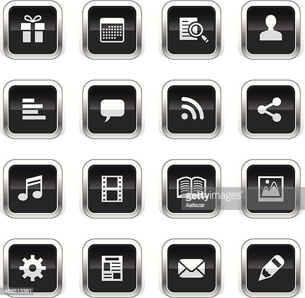 Supergloss Black Icons - Social Network