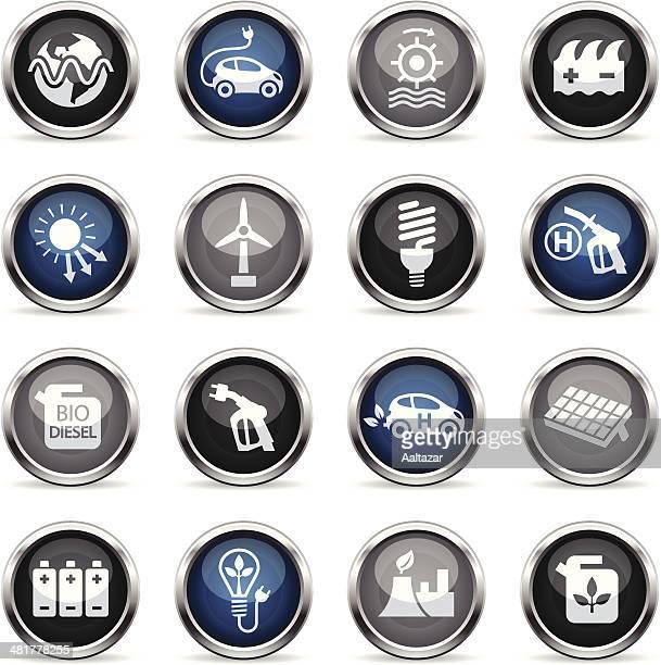 supergloss icons - alternative energy - biodiesel stock illustrations, clip art, cartoons, & icons