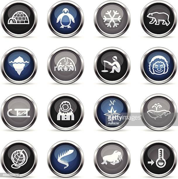 illustrations, cliparts, dessins animés et icônes de supergloss icônes-arctic - igloo