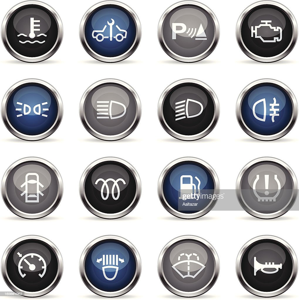 Supergloss Icons - Car Control Indicators : stock illustration