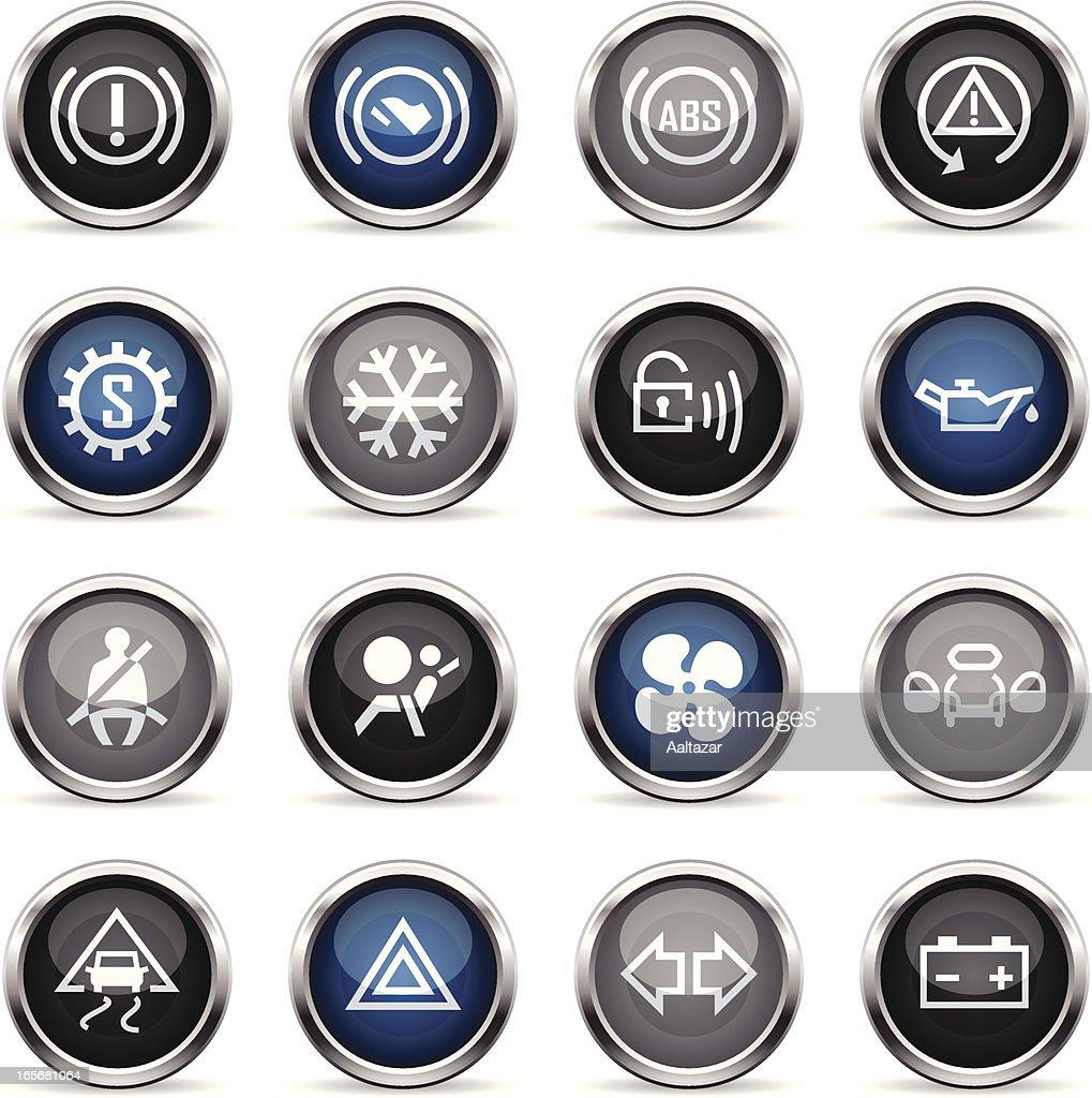 Supergloss Icons - Car Control Indicators : stock illustration