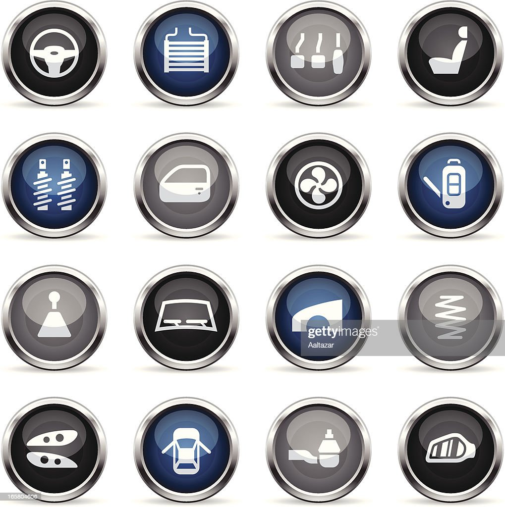 Supergloss Icons - Car Parts : stock illustration