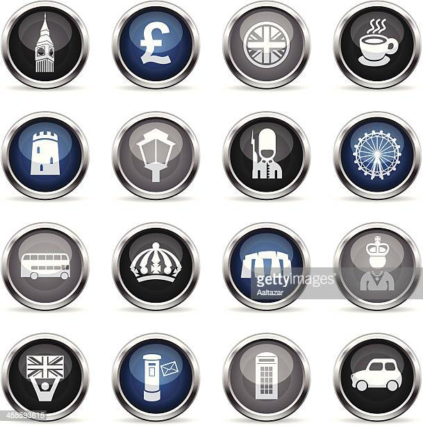 supergloss icons - england - megalith stock illustrations, clip art, cartoons, & icons
