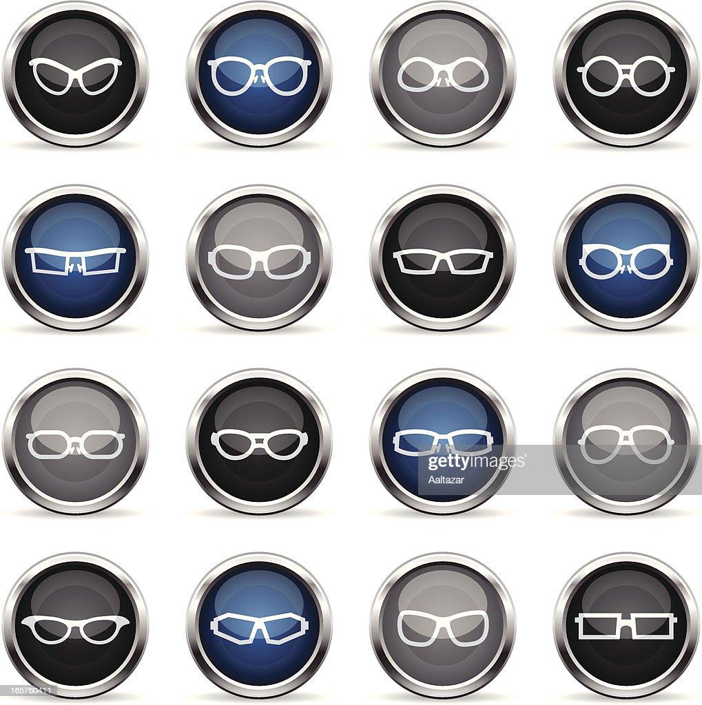 Supergloss Icons - Glasses : stock illustration