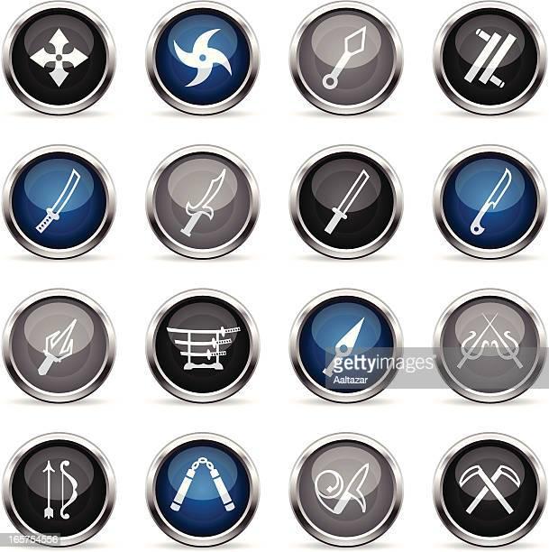 supergloss ニンジャ武器のアイコン-日本 - 武器点のイラスト素材/クリップアート素材/マンガ素材/アイコン素材
