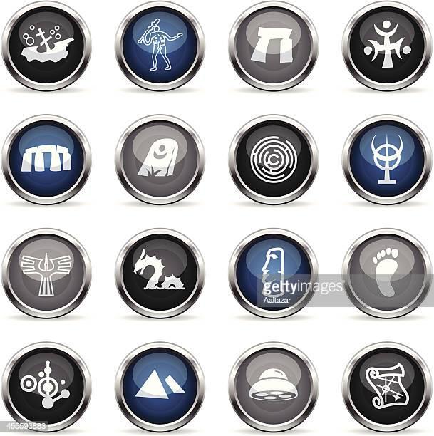 ilustrações de stock, clip art, desenhos animados e ícones de supergloss ícones-mistérios - megalith
