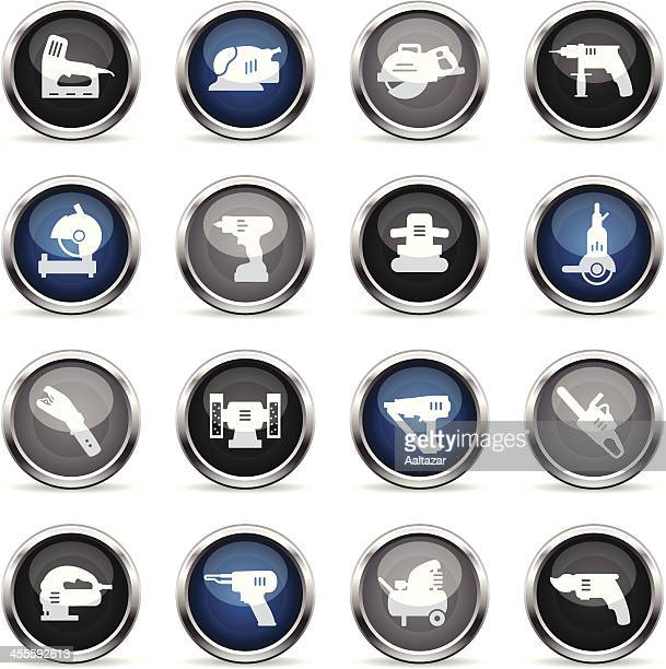 supergloss icons - power tools - pruning shears stock illustrations, clip art, cartoons, & icons