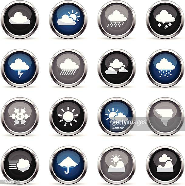 supergloss icons - weather - hailstone stock illustrations, clip art, cartoons, & icons