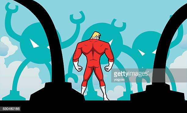 Superhero ambushed