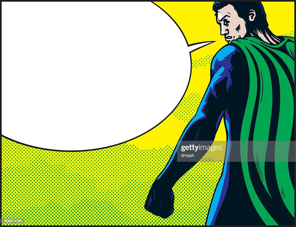 Superhero back speech : stock illustration