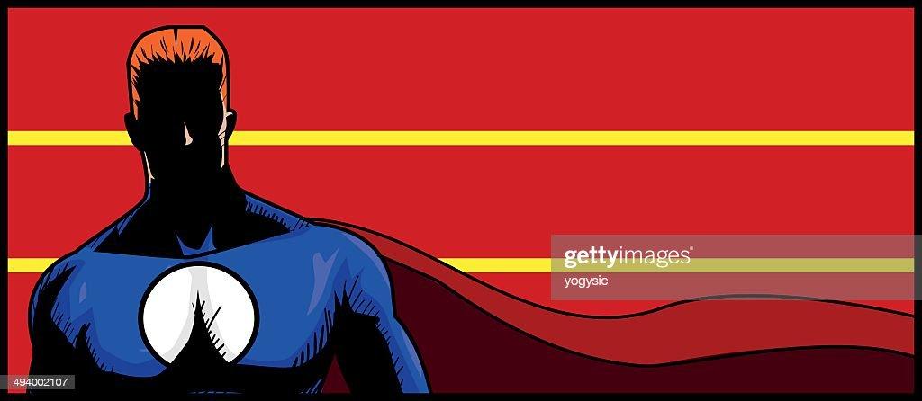 Superhero banner : stock illustration