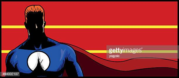 superhero banner - chest torso stock illustrations, clip art, cartoons, & icons
