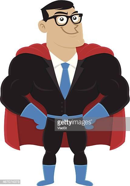 superhelden-geschäftsmann - full suit stock-grafiken, -clipart, -cartoons und -symbole