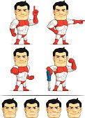 Superhero Customizable Mascot 5