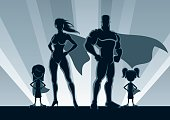 Superhero Family 2 Girls