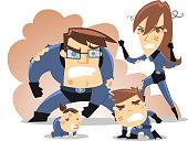 Superhero Family in trouble