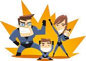 Superhero Family ready to work